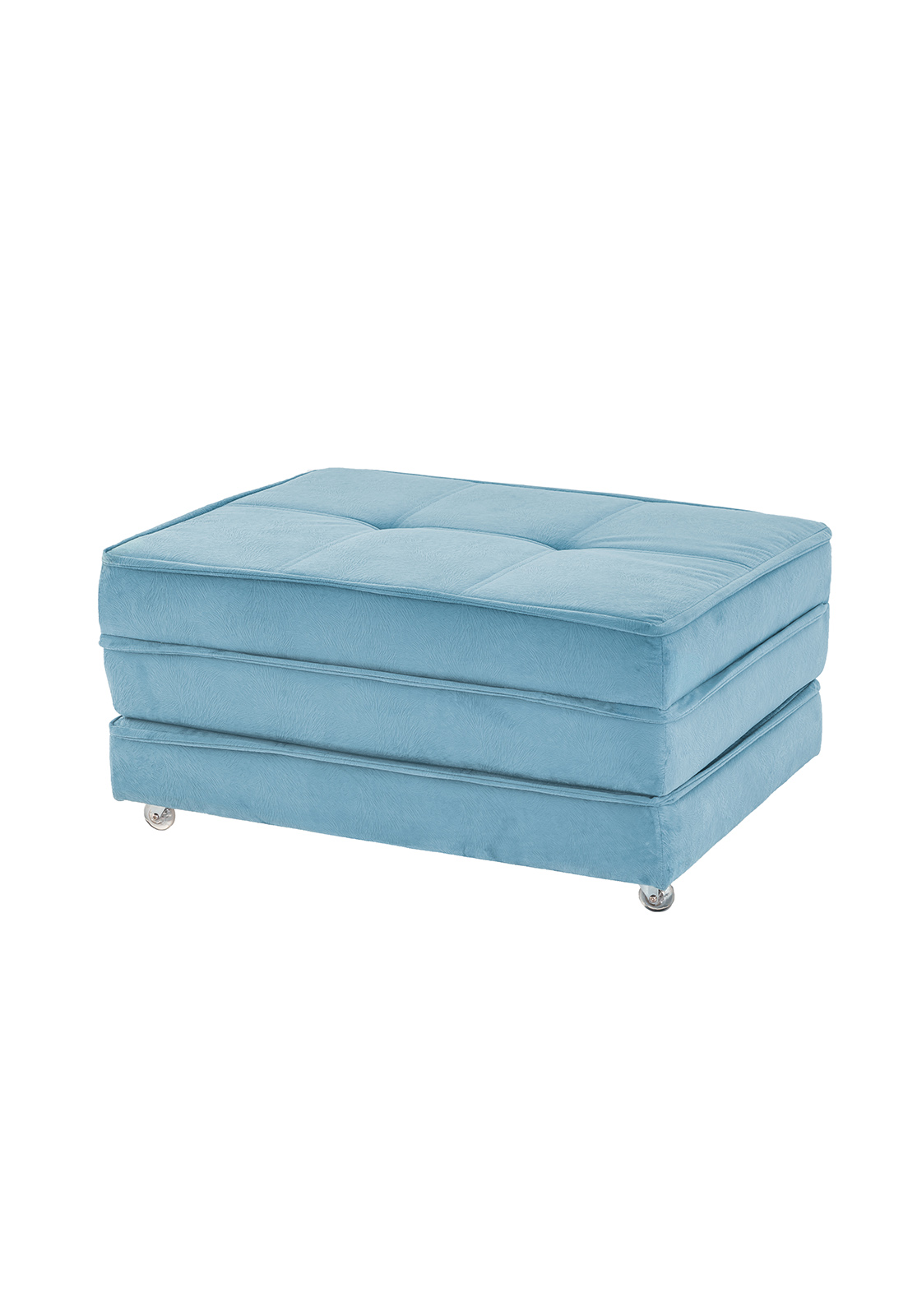 Puff cama azul rio decor for Puff cama 1 plaza