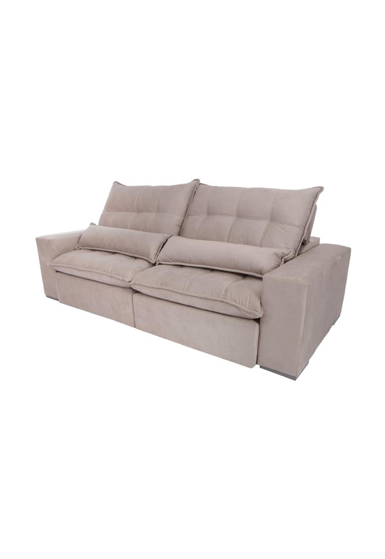 sof retr til e reclin vel m ximo cinza rio decor. Black Bedroom Furniture Sets. Home Design Ideas